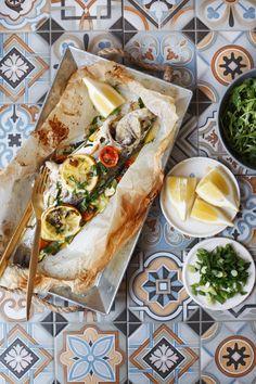 Brancin sa tikvicama & cherry paradajzom / Sea bass with zucchini & cherry tomatoes