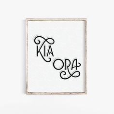 Kia Ora or Hello Maori Phrase Printable Instant Download Be Well Greeting Sign New Zealand Wall Art by IntrovertInkStudio on Etsy School Places, Body Combat, Oras, Wall Signs, New Zealand, Goodies, Typography, Printables, Holidays