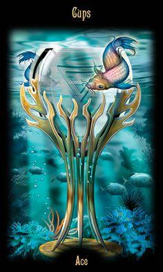 Gateway to the Divine Tarot / Legacy of the Divine Tarot By Ciro Marchetti - Ace of Cups Divine Tarot, Daily Tarot, Oracle Tarot, Cartomancy, Tarot Readers, Tarot Decks, Fantasy, Illustration, Beautiful