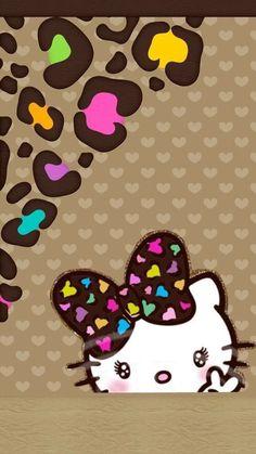 Hello Kitty Art, Hello Kitty My Melody, Sanrio Hello Kitty, Hello Kitty Backgrounds, Hello Kitty Wallpaper, Cheetah Print Wallpaper, Hello Kitty Pictures, Hello Kitty Collection, Character Wallpaper