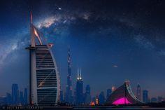 3 in Burj Al Arab, Burj Khalifa and Jumeirah Beach Hotel (by Beno Saradzic)