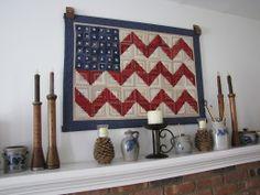 American Flag quilt via Martha Stewart Living