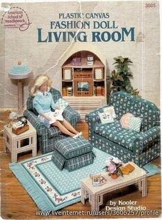 Free Copy of Booklet - Plastic Canvas Fashion Doll Living Room