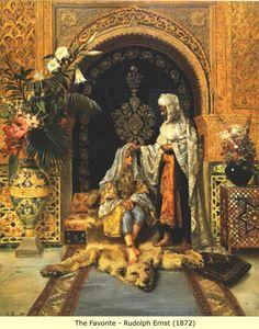 Rudolf Ernst : The Favourite, 1872 // Ottoman harem life