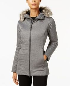 The North Face Harway Heatseeker Faux-Fur-Trimmed Parka - Gray XL Womens  Parka e97c003100