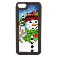 Happy Snowman #iPhone5 5S Switch Case > EVERYTHING Happy #Snowman > #PatriciaSheaDesigns