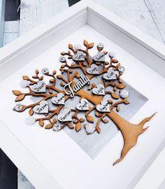 Árbol de familia Marco de foto de familia decoración del