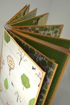 Envelope book. I would suggest using a bone folder to create a really good crease. Also, open up both ends of the envelope before putting the book together. In order to have your