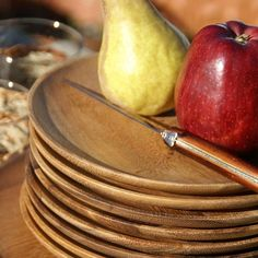 Acacia Wood Dinnerware Collection $13-$18