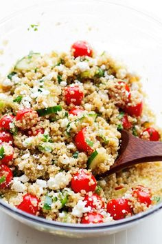 Summer Tomato and Cucumber Quinoa Salad #summer #tomato #quinoa