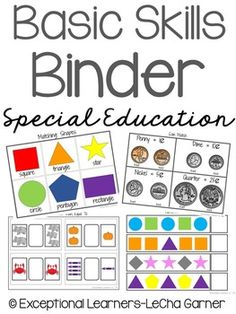 This basic skills mega work binder set includes over 20 different activities to promote and encourage instructional and independent working in your classroom!