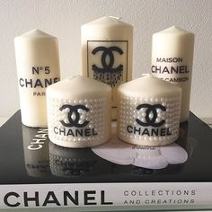 Best Scented Candles for Your Home - Luxury Candles to Give as Gifts Chanel Room, Chanel Decor, Chanel Birthday Party, Chanel Party, Luxury Candles, Diy Candles, Decorative Candles, Chai Tea Recipe, Glamour Decor