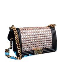 Boy Chanel Diamond Flap Bag Black Original Leather A67086 Gold 309 00