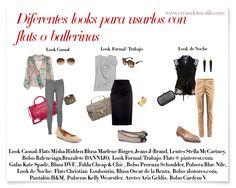 Diferentes looks para usar con zapatos flats o ballerinas  http://creandotuestilo.com/2012/08/07/como-usar-zapatos-planos-o-ballerinas/