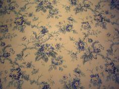 "Mulberry / Lee Jofa Blue ""FADED FLOWERS"" Linen Cotton Floral Print Velvet Fabric - FD194-H101 - Retails 156.00 yd - Below Wholesale - 5 yds"