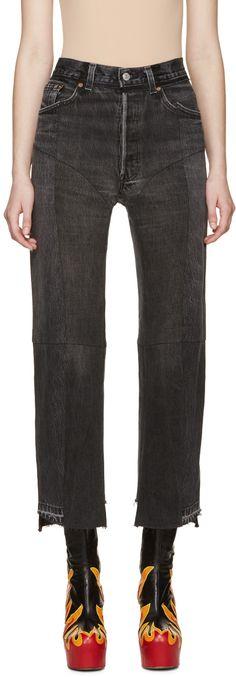 Vetements - Black Reconstructed 1378 Jeans