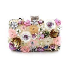 Elegant and Versatile Embroidered Floral Clutch