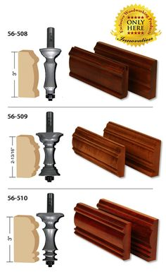 'Much More' We know the name of these new router bits may sound silly but what would you have called them? All three of these router bits are perfect for making any number of Woodworking Saws, Learn Woodworking, Woodworking Workshop, Easy Woodworking Projects, Woodworking Techniques, Woodworking Furniture, Custom Woodworking, Woodworking Store, Wood Projects