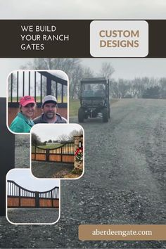 These Texas-designed aluminum, ranch gates found a beautiful new home in Commerce, GA. They were faux-wood and rubbed-bronze painted. They will last longer and be lower maintenance than traditional wood and steel. Modern Ranch, Modern Farmhouse Style, Modern Rustic, Security Gates, Iron Gate Design, Custom Gates, Texas Ranch, Automatic Gate, Driveway Gate