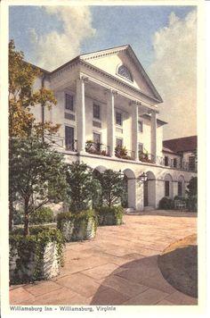 Vintage Postcard...Williamsburg Inn by PostcardsbySchlockMe