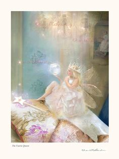Nursery Rhyme print...Unmatted - Print only - signed and titled' The Faerie Queen '  By Charlotte Bird