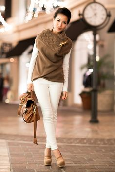 Top :: BCBG sweater (old), Splendid top Bottom :: Old Navy Bag :: Mulberry Alexa Shoes :: YSL (old) Accessories :: Deborah Lippmann 'My old flame', Gorjana rings