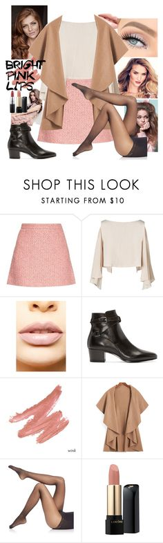 """SHOW OFF"" by grachyv on Polyvore featuring beauty, Gucci, LASplash, Yves Saint Laurent, Falke, Lancôme, MAC Cosmetics and pinklips"