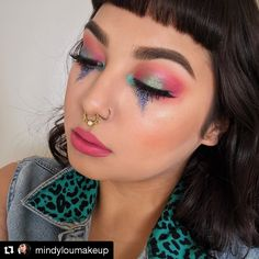 Happy tears for this look by @mindyloumakeup! She popped on Spotlight Blush in Sable on her cheeks. #repost #kleancolor #spotlightblush #sable #blush #glittertears #makeup #cosmetics #beauty