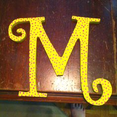 Hand painted M for my wall after I redo my room