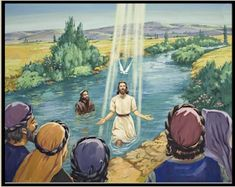 Children's Bible Lessons, baptism of Jesus, for elementry and middle school students. Fun online educational games and worksheets are provided free for each Bible story. Bible Pictures, Jesus Pictures, Religious Pictures, Jesus Is Risen, Jesus Christ, God Jesus, Savior, Jesus Baptised, Bible Quiz