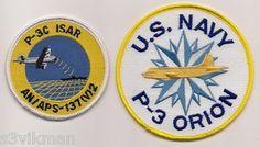 USN P-3C ISAR & P-3 ORION patch set ( MARITIME PATROL AIRCRAFT )