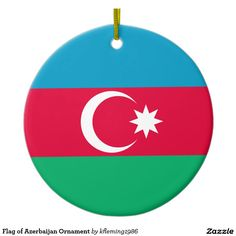 Flag of Azerbaijan Ornament