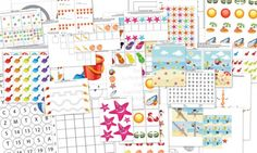 Summer Beach Themed Preschool Printables - Pinned by @PediaStaff – Please Visit ht.ly/63sNtfor all our pediatric therapy pins