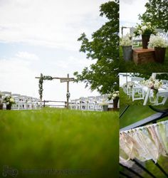 Shayna & Scott are Married – Bayfield, Ontario & Hessenland Country Inn Bayfield Ontario, Lakeside Wedding, Walking Down The Aisle, Town Hall, Happily Ever After, Interior And Exterior, Wedding Ceremony, Tent, Table Decorations