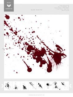 Blood Splatter 8 - Download  Photoshop brush http://www.123freebrushes.com/blood-splatter-8/ , Published in #BloodSplatter, #GrungeSplatter. More Free Grunge & Splatter Brushes, http://www.123freebrushes.com/free-brushes/grunge-splatter/ | #123freebrushes
