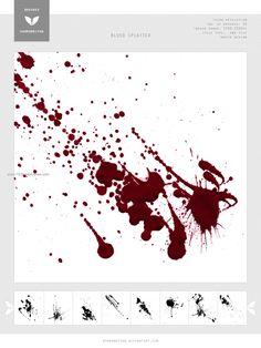 Blood Splatter 8 - Download  Photoshop brush http://www.123freebrushes.com/blood-splatter-8/ , Published in #BloodSplatter, #GrungeSplatter. More Free Grunge & Splatter Brushes, http://www.123freebrushes.com/free-brushes/grunge-splatter/ | #123freebrushes