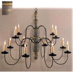 """26"""" high Williamstown Two Tier Chandelier similar to the one I found for $35 at ReStore"""