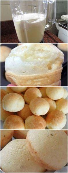 O Pãozinho de Queijo mais fácil do mundo! Feito no liquidificador, fica uma delícia e pronto e minutos! Nunca mais vou ter trabalho para fazer pão de queijo, essa receita virou um vício! #paodequeijo #paodequeijofacil #paodequeijorapido #massas