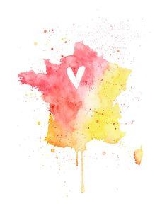 5x7  France Love by poppyandpinecone on Etsy, $12.00