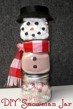 Red Hill General Store: Make a Snowman out of Jars