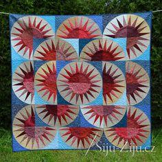 Paper piecing quilt / Šiju-Žiju.cz Paper Piecing, Quilts, Blanket, Scrappy Quilts, Paper Scraps, Quilt Sets, Blankets, Log Cabin Quilts, Cover