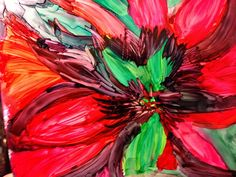 Alcohol Ink Art, created with Spectrum Noir markers by Tommy Buell McDonell