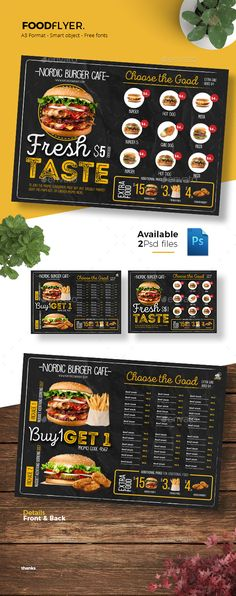 Food Flyer — Photoshop PSD #summer #food • Download ➝ https://graphicriver.net/item/food-flyer/21633507?ref=pxcr