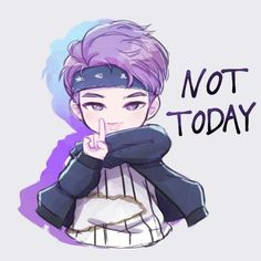 RapMonster, fanart, kawaiiiiiii, not today, kwaii desu ne, mv not today, chibi, nanjoom :33333