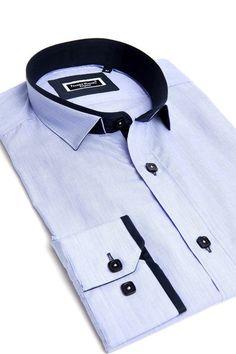 Unique dress shirt for men | Blue color shirt by Franck Michel