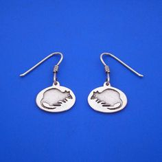 Silver Quokka Earrings , Hand Made Solid Silver , Silver  Jewelry Jewellery by ijewellery on Etsy
