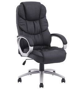 BestOffice Ergonomic PU Leather High Back Office Chair White Leather Dining Chairs, Compact Table And Chairs, Best Office Chair