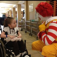 Hope at the ronald mcdonald house. they do so much for families.