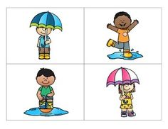 This packet contains following directions activities for 4 different spring themes: rainy days, a pond scene, flowers, and flying kites. These activities address listening for details, understanding prepositions, and understanding pronouns as well as following 1-2 step directions.