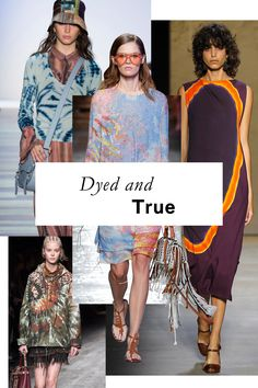 This isn't the head shop standby. Tie-dye's new side is simple, sophisticated, and all grown up. Cases in point: Joseph Altuzarra's seductive, slit-to-there shirtdresses and Narciso Rodriguez's large-scale take on a languid sheath.